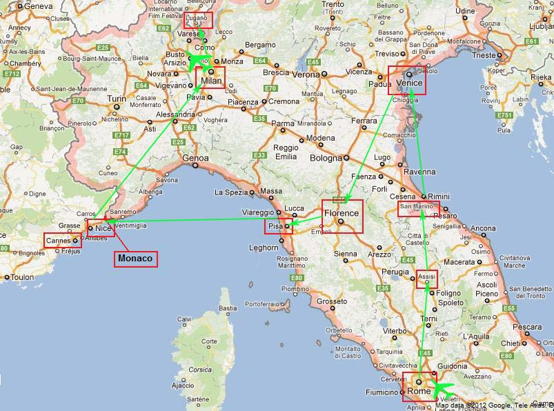 Italy French Riviera 1727 April 2012